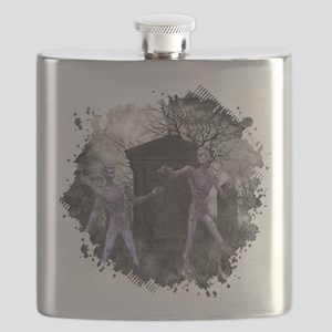 Zombies in the Graveyard Flask