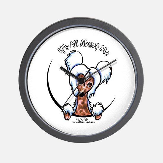 Chinese Crested IAAM Wall Clock