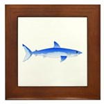 Shortfin Mako Shark Framed Tile