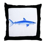 Shortfin Mako Shark Throw Pillow