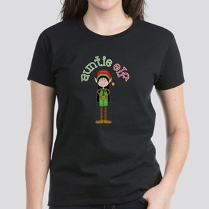 Auntie Christmas Elf Women's Dark T-Shirt