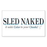 SLED-NAKED Sticker (Rectangle 10 pk)