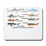 Sharks and More Sharks Montage Mousepad