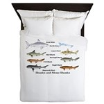 Sharks and More Sharks Montage Queen Duvet