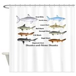 Sharks and More Sharks Montage Shower Curtain