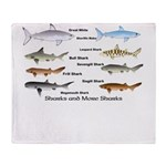 Sharks and More Sharks Montage Throw Blanket