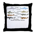 Sharks and More Sharks Montage Throw Pillow