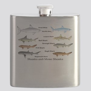 Sharks and More Sharks Montage Flask