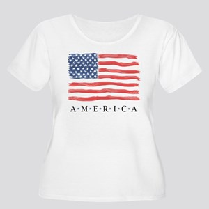 AMERICAN flag only Plus Size T-Shirt