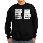 Sharks and More Sharks Montage Sweatshirt (dark)