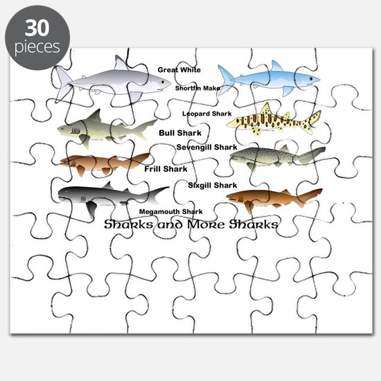 Sharks and More Sharks Montage Puzzle