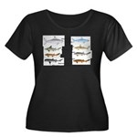 Sharks and More Sharks Montage Women's Plus Size S