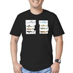 Sharks and More Sharks Montage Men's Fitted T-Shir