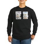 Sharks and More Sharks Montage Long Sleeve Dark T-