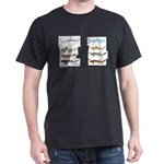 Sharks and More Sharks Montage Dark T-Shirt