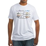 Sharks and More Sharks Montage Fitted T-Shirt