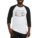 Sharks and More Sharks Montage Baseball Jersey