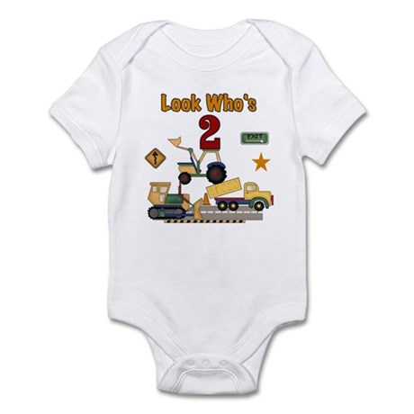 Construction 2nd Birthday Infant Creeper