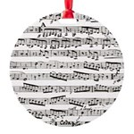 Music notes Round Ornament