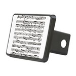 Music notes Rectangular Hitch Cover