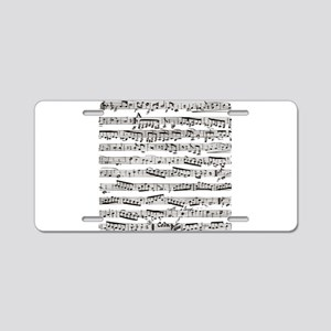 Music notes Aluminum License Plate