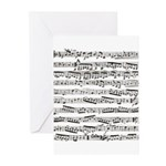 Music notes Greeting Cards (Pk of 10)