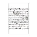 Music notes Mini Poster Print