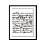 Music notes Framed Panel Print