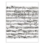 Music notes Small Poster