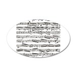 Music notes 20x12 Oval Wall Decal
