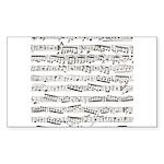Music notes Sticker (Rectangle 50 pk)