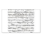 Music notes Sticker (Rectangle 10 pk)