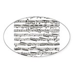 Music notes Sticker (Oval 50 pk)