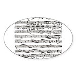 Music notes Sticker (Oval 10 pk)