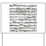 Music notes Yard Sign