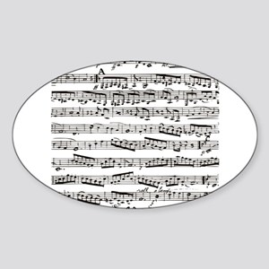 Music notes Sticker (Oval)