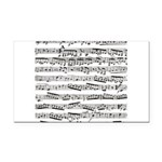 Music notes Rectangle Car Magnet