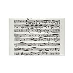 Music notes Rectangle Magnet (10 pack)