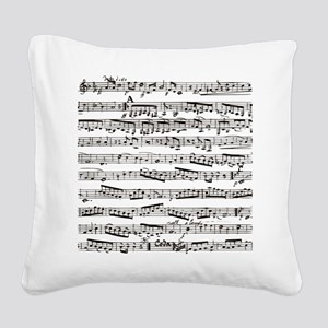 Music notes Square Canvas Pillow