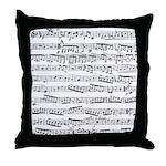 Music notes Throw Pillow