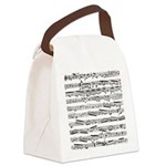 Music notes Canvas Lunch Bag