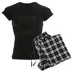 Music notes Women's Dark Pajamas