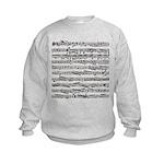 Music notes Kids Sweatshirt