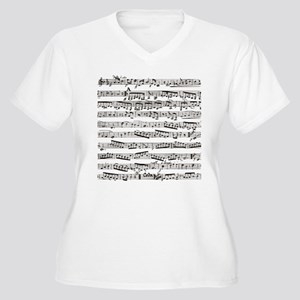 Music notes Women's Plus Size V-Neck T-Shirt