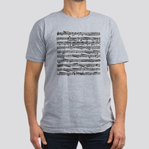 Music notes Men's Fitted T-Shirt (dark)
