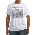 Music notes Fitted T-Shirt