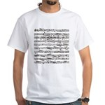 Music notes White T-Shirt