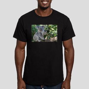 Cute koala Men's Fitted T-Shirt (dark)