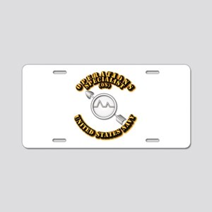 Navy - Rate - OS Aluminum License Plate