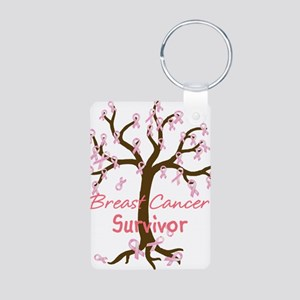 Breast Cancer Survivor Aluminum Photo Keychain